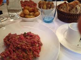 la cuisine nantes tartar with bread and potatoes picture of la cigale nantes