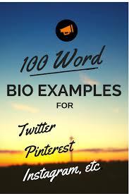 100 word bio examples u2013 biotemplates com