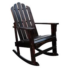 Patio Rocking Chairs Wood by Shop Shine Company Marina Burnt Brown Cedar Patio Rocking Chair At