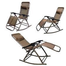 Rocking Folding Chair Infinity Zero Gravity Folding Reclining Chair Brown Rocking Chair