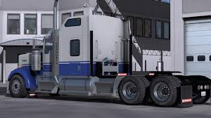 kenworth dealer kenworth w900 blue u0026 gray skin mod ats american truck simulator