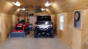 14 u0027 x 40 u0027 portable garage man cave remodel ottawa sheds youtube