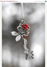 rose key necklace images 10 off vday sale winter rose key necklace 134 by keyperscove jpg
