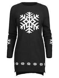 snowflake sweater 2018 snowflake sweater black one size in sweaters cardigans