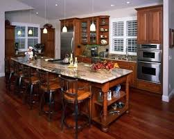 clever open floor plan kitchen design with long island eclectric