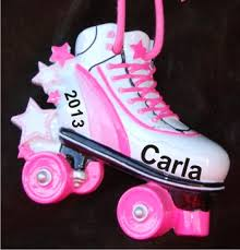 s rollin bling roller skates ornament