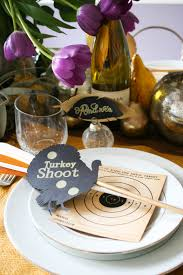 turkey shoot thanksgiving tablescape with diy crafts salty canary