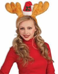 Deer Antlers Halloween Costume Brown Fur Trim Christmas Reindeer Antlers Blinking Led Christmas