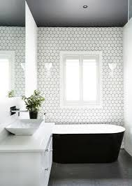 bathroom tile feature ideas best 25 white hexagonal tile ideas on hexagon tiles
