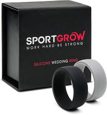 silicone wedding bands silicone wedding ring silicone wedding band for men 2 rings pack