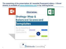 strategy map u0026 balanced scorecard templates by ex deloitte u0026 mckins u2026