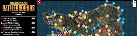 pubg interactive map pubg 武器ルート 車のインタラクティブマップ その2 gamegeek
