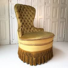 home have a seat chairs vintage victorian golden tufted parlor chair