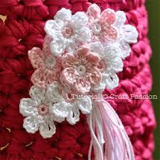 Tiny Flower Crochet Pattern - butterfly flower leaf crochet pattern crochet flower tutorial