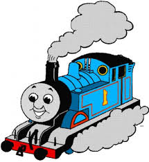 thomas the tank engine clipart blue train pencil and in color