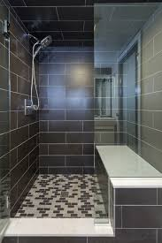 basement bath remodel in a space challenged by low ceilings