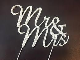 mr and mrs wedding cake toppers mrs rhinestone wedding cake topper