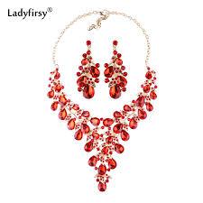 rhinestone necklace earrings images Vintage rhinestone jewelry sets luxury crystal necklace earrings jpg