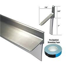 Shower Door Sweep Replacement Parts Chrome Framed Shower Door Replacement Bottom Deflector With Vinyl