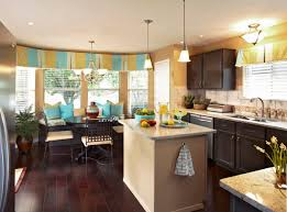 kitchen pleasant three color combination of window treatment ideas