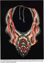 beaded cord necklace images African bead designs fiber jewelry beading magazine jpg
