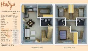 two storey residential floor plan design of 2 storey house compare designs floor plan code 3 beds 2