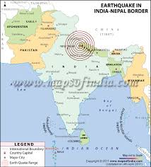 map of nepal and india earthquake in delhi ncr noida nepal 4 march 2011