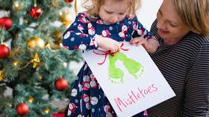 mistletoe footprint picture tesco baby club