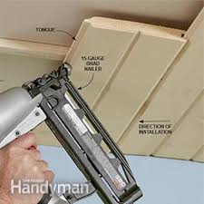 How To Hang Drywall On Ceiling By Yourself by How To Install A Tongue And Groove Ceiling Family Handyman