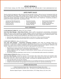 auto parts manager resume resume for your job application