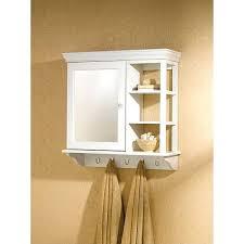 Wooden Bathroom Wall Cabinets Bathroom Cabinets With Towel Bar White Finish Wood Bathroom Wall