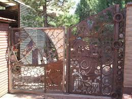 building metal privacy fence panels design ideas