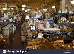an antique store in nanton alberta canada stock photo royalty