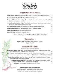 fireworks restaurant corvallis menu