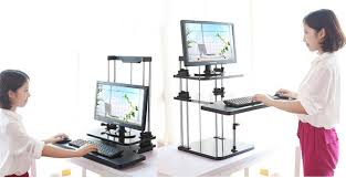 Laptop Riser For Desk Sit Stand Desk Riser Three Level Height Adjustable Lightweight