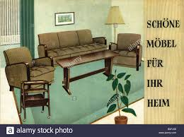 German Living Room Furniture Innovation Ideas 50s Furniture Advertising Oberhausen Germany 1954