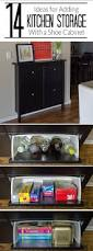 add kitchen storage in a small space add kitchen storage to a small space using an ikea hemnes shoe cabinet click for