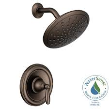 Shower Faucet Oil Rubbed Bronze Moen Brantford Posi Temp Rain Shower 1 Handle Shower Only Faucet