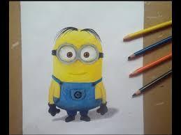 realistic drawing minion drawing minion draw