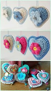 Free Pattern For Crochet Flower - 25 best crochet hearts ideas on pinterest free heart crochet
