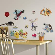 roommates 5 in x 19 in pokemon pikachu peel and stick wall decal