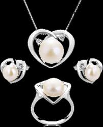 jewelry necklace pearl set images Pearl jewelry sets necklace earrings sets for sale png