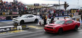 Dodge Challenger Drift Car - two dodge demon u0027s duel at mopar mile high nationals the fast