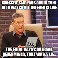 Crossfit Open Meme - maury lie detector meme imgflip