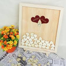 wedding guest book alternatives personalized wedding guest book wooden hearts wedding guestbook