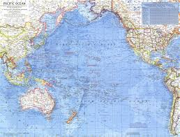 Ocean Map World by 1969 Pacific Ocean Map Historical Maps