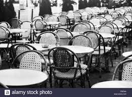 Ka Bistro Chair Vintage Cafe In Black And White Photo Of Wicker