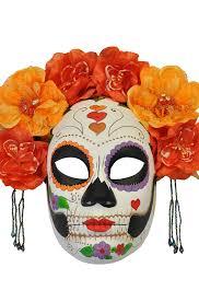 catrina costume la calavera catrina masquerade mask orange purecostumes