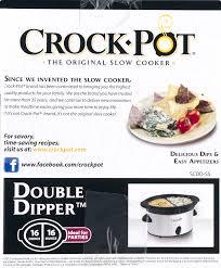 3 Crock Pot Buffet Recipes by Crock Pot Double Dipper Slow Cooker Stainless Steel Walmart Com