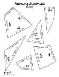 factoring trinomials heart shaped puzzle by lisa davenport tpt